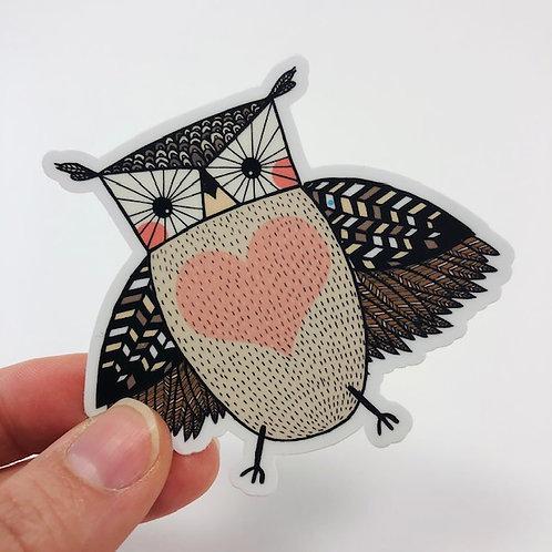 Little owl sticker