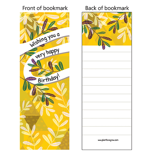 Wishing you a very happy birthday! - bookmarks - pack of 10