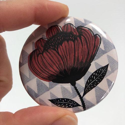Pocket mirror - Flower drawing 2