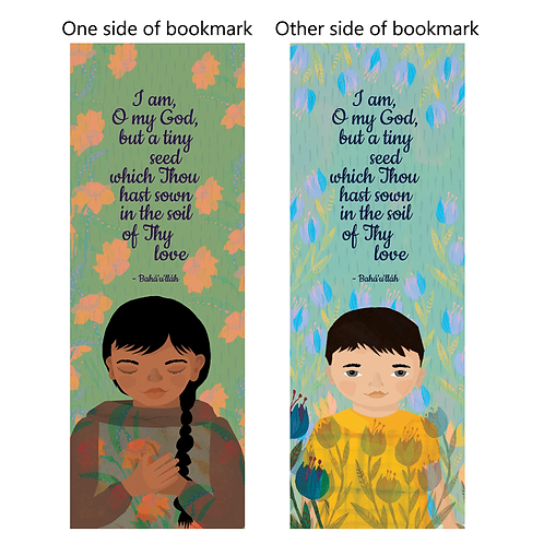 "Quote ""Tiny seed"" - bookmarks - pack of 10"