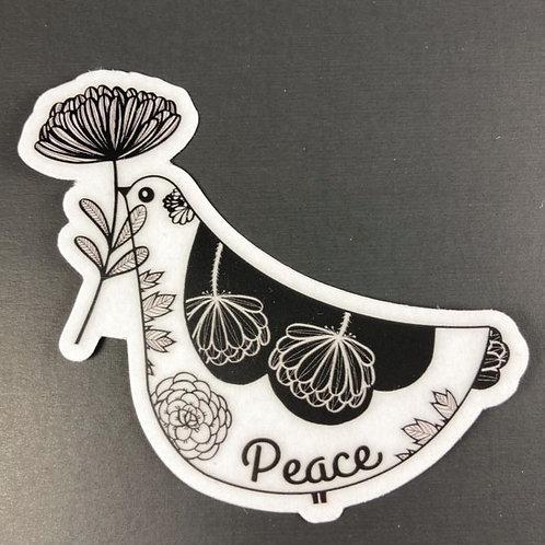 Peace bird - transparent sticker
