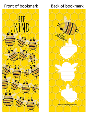 BEE KIND - bookmarks - pack of 10