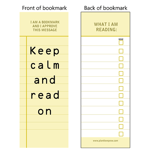 Keep calm and read on - bookmarks - pack of 10