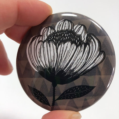 Pocket mirror - Flower drawing 1