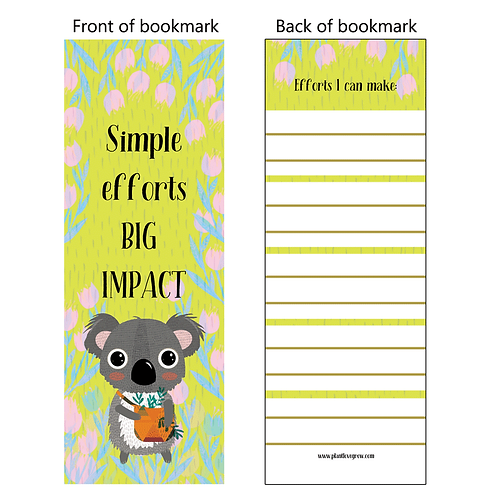 Simple efforts BIG IMPACT - bookmarks - pack of 10