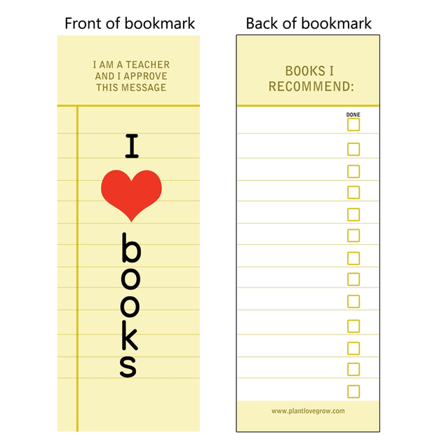 I love books - bookmark