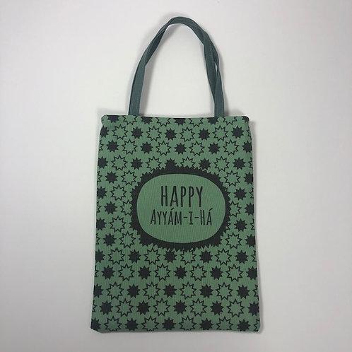 Small green Ayyam-i-Ha bag - design 4