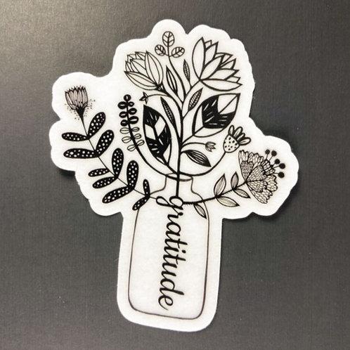 Gratitude bouquet - transparent sticker