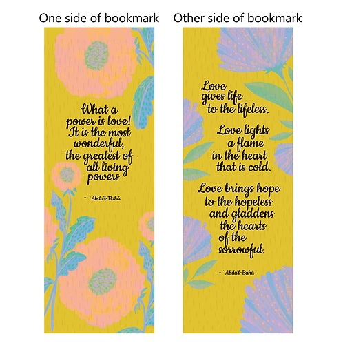 Quotes on love - bookmarks - pack of 10