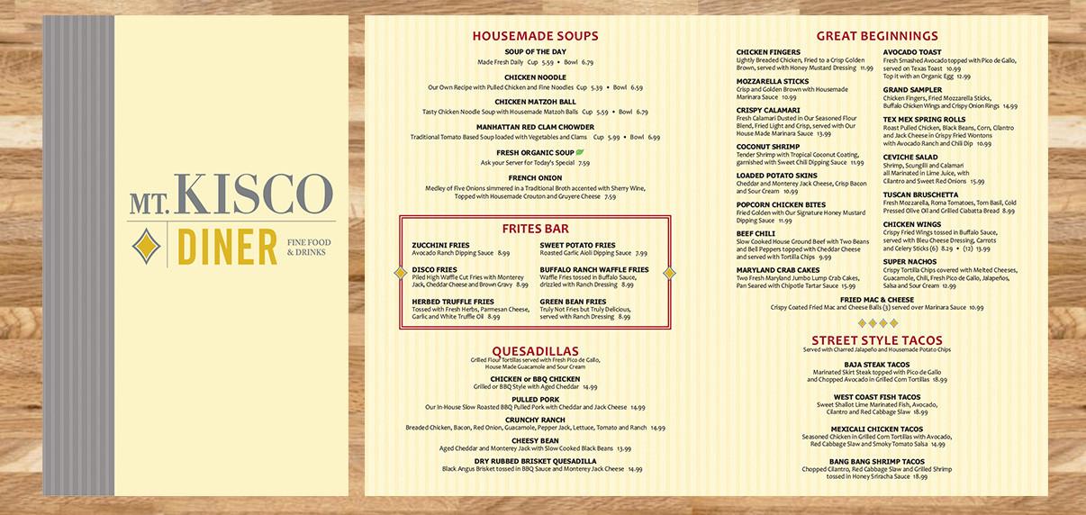 Mt. Kisco Diner - Restaurant Graphics (NJ)