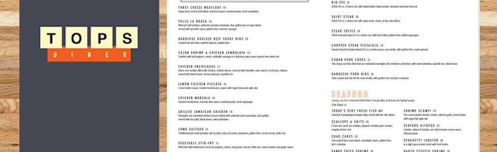 Tops Diner - Restaurant Graphics (NJ)