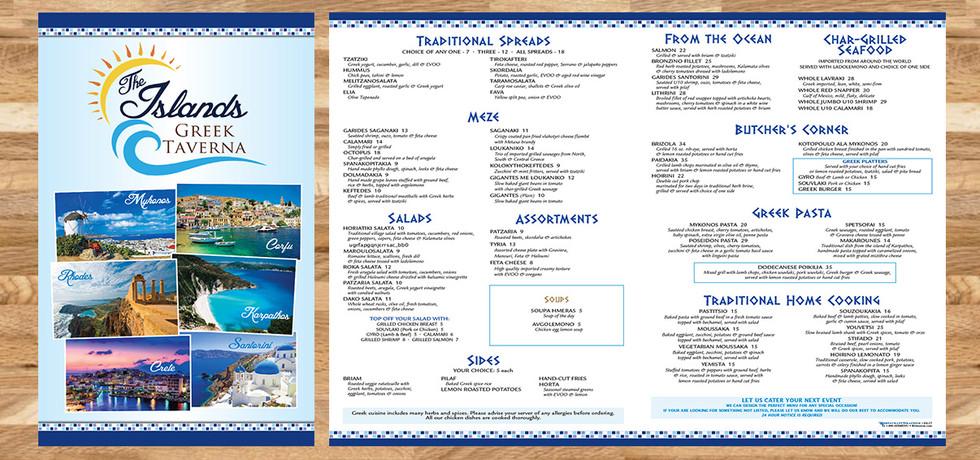 Islands Greek Taverna - Restaurant Graphics (NJ)