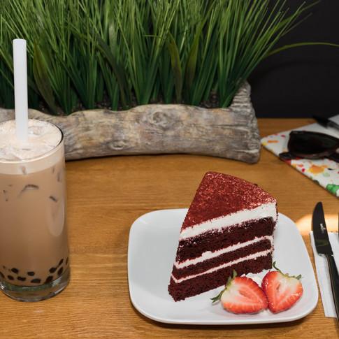 Bubble Tea and Cake
