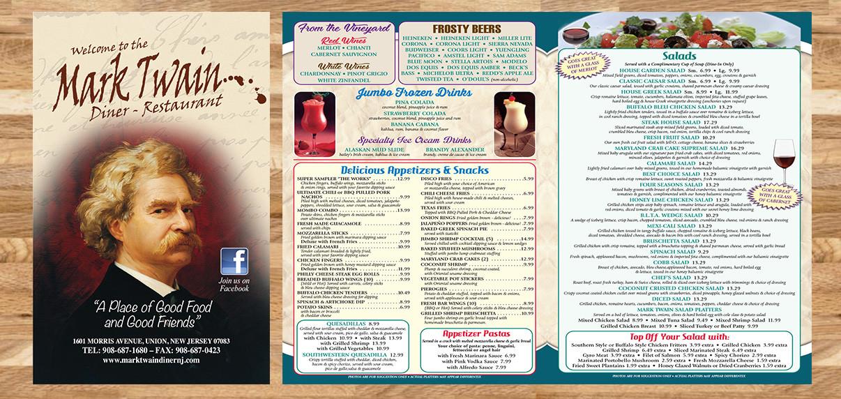 Mark Twain Diner - Restaurant Graphics (NJ)