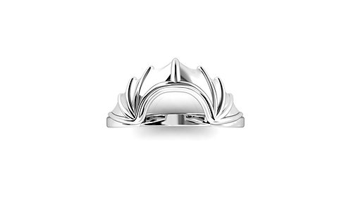 10ct Batwing Contour Solitaire Band-  Silver - Size 7
