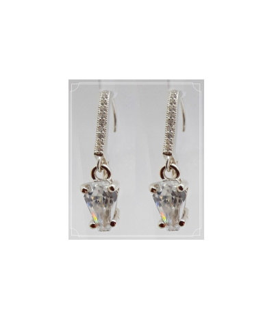 2ct Earrings - ACCENT LEVER BACK