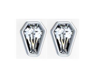 1ct Bezel Set Earrings - POST