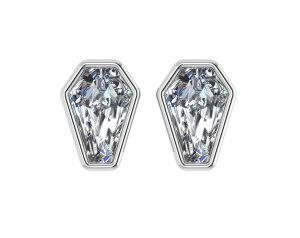 2ct Bezel Set Earrings - POST