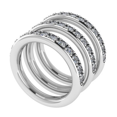 Half Eternity Bands for Halo Rings