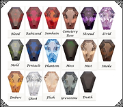 Coffin Gem Stone Colors