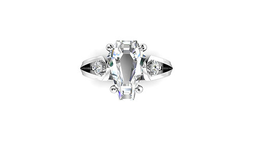 3ct Accent Ring