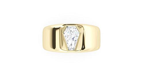 2ct Men's Bezel Band Ring