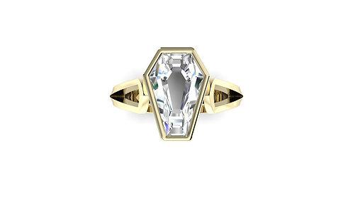 3ct Bezel Set Solitaire Ring