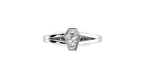1ct Bezel Set Solitaire Ring