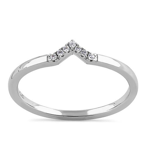 1ct  Solitaire Stacking Band