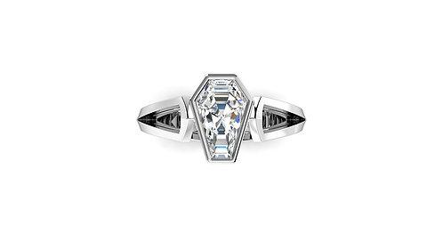 2ct Bezel Set Solitaire Ring
