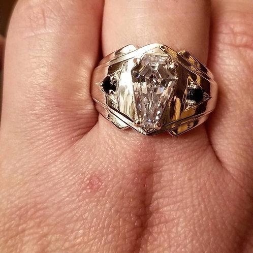 2ct Men's Accent Ring