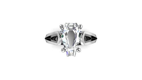 3ct Ghost Designer Ring