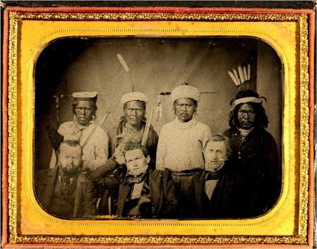 1851 Treaty signers: Wopumnes with OM Wozencraft