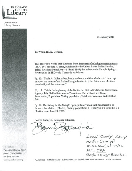 letter about IRA