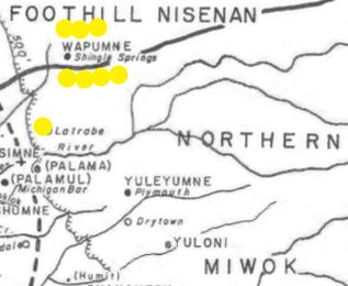Bennyhoff map Wapumne Village