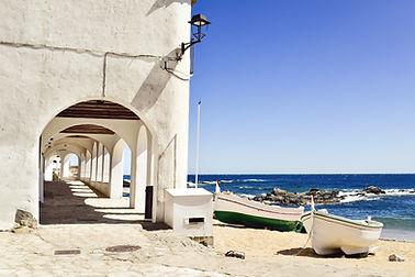 a view of the Port Bo Square in Calella