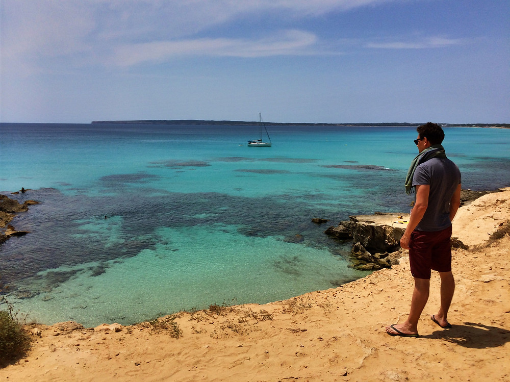 Formentera beaches in the Balearic Islands