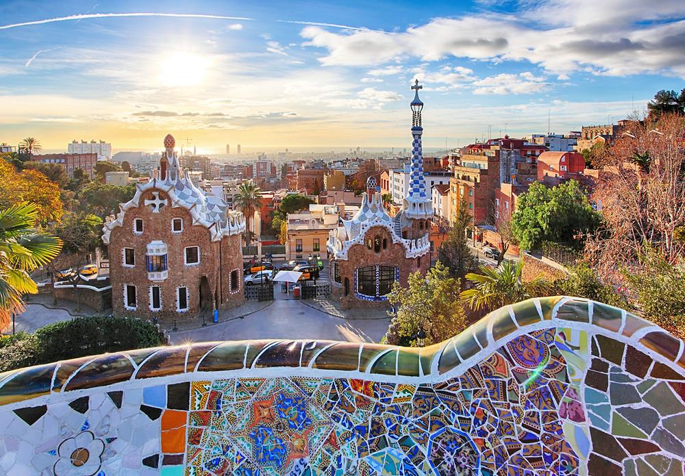 Gaudí's Park Güell in Barcelona, Spain.