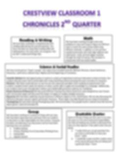 Classroom 1 Quarter 2 Newsletter 2019 20