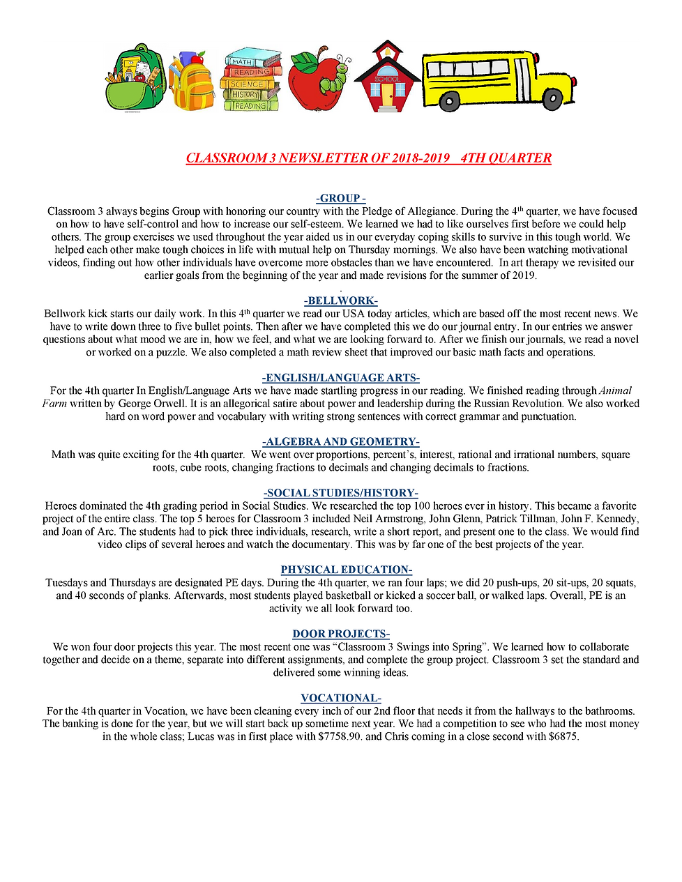 Classroom 3 Newsletter 4Q of 2019 (2)-0.