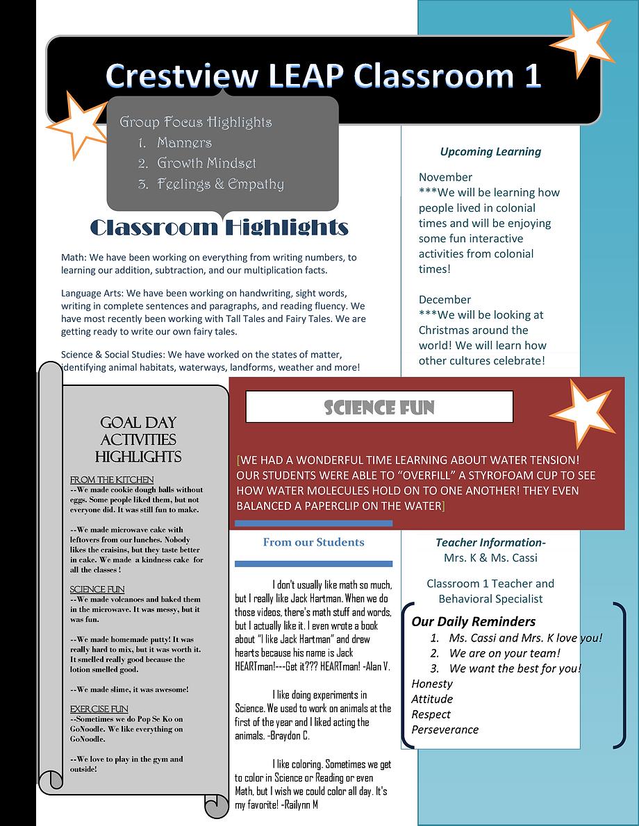 Crestview Leap Classroom 1 Newsletter.pn