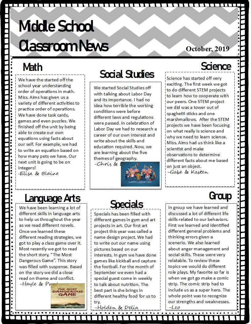 River Classroom 3 Newletter Qrt 1 (2019-