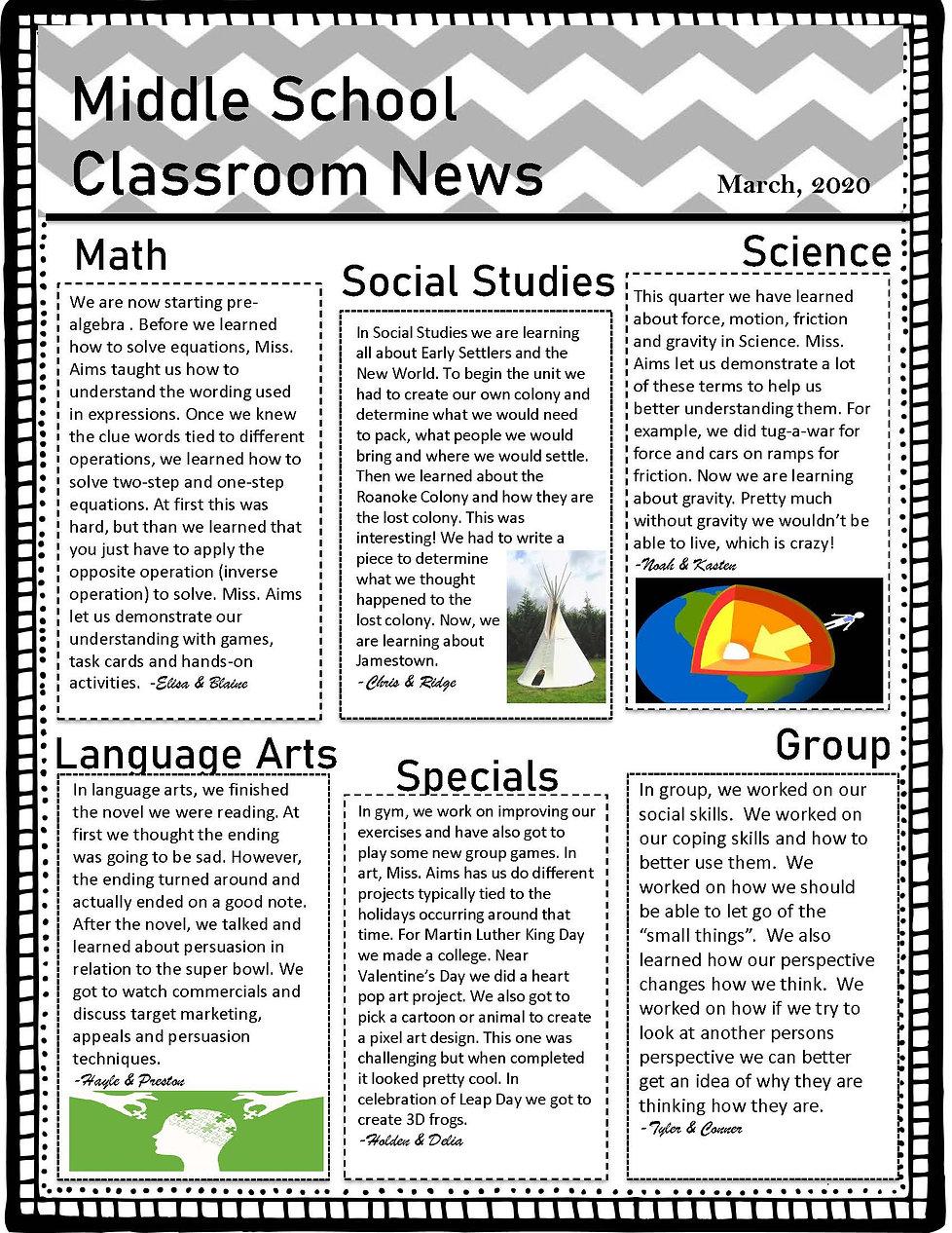 Classroom 3 Newletter Qrt 3 (2019-2020).