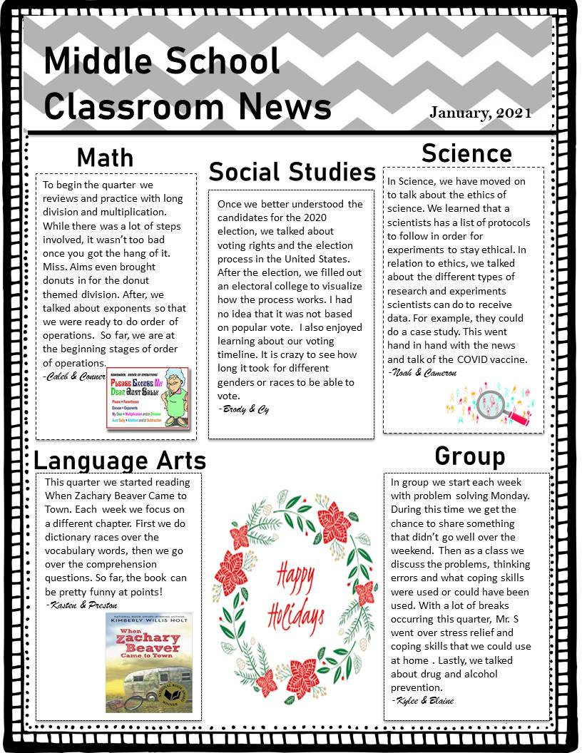 Aims Room 3 Classroom Newsletter Qtr 2 2