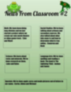 River 2019 2020 Classroom #2 Newsletter