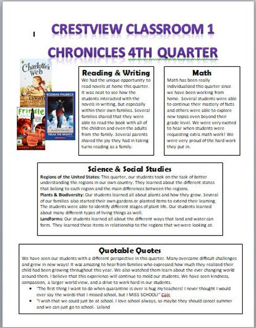 Classroom 1 4th Quarter Newsletter.JPG