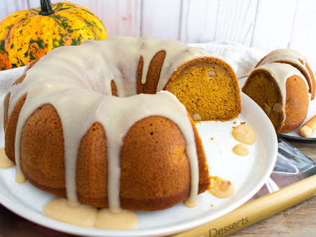Pumpkin and Pear Bundt Cake (Vegan)