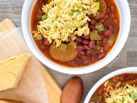 Cajun Red Beans and Chickpea Rice