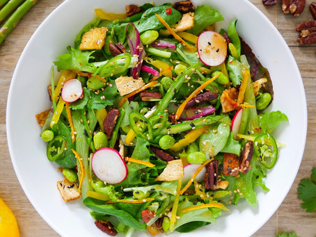 Spicy Salad with Thai Chili Lime Dressing