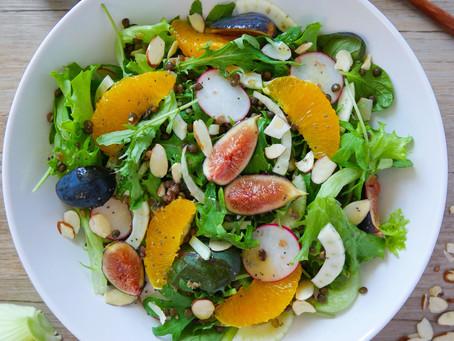 Spring Salad with Lemon Orange Poppyseed Dressing